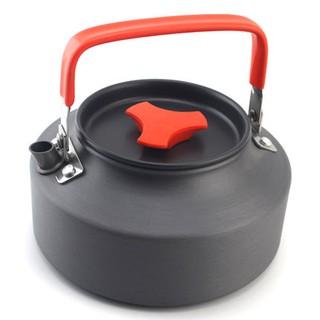 露營 1.1L 茶壺 野外 便攜 燒水壺 野營 野炊 開水壺  硬質 氧化鋁 咖啡壺 戶外 送網袋