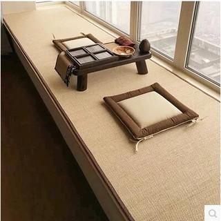 日式天然竹編織客廳臥室地毯竹地毯 瑜伽涼蓆地毯 飄窗榻榻米地墊