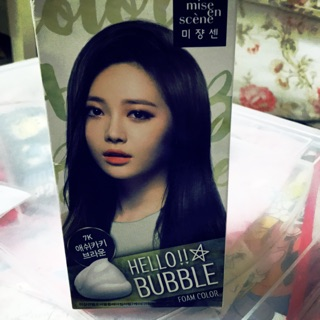 韓國 mis en scene 美強森 Hello BUBBLE 植物泡泡染髮 7K精油護髮染