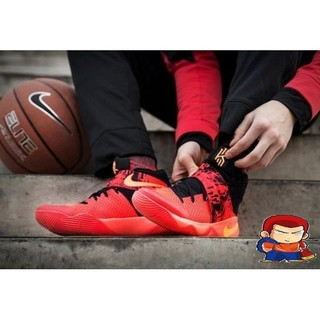 NIKE KYRIE 2 BHM EP IRVING飛線編織網面透氣籃球鞋紅黑厄文二代 男生款