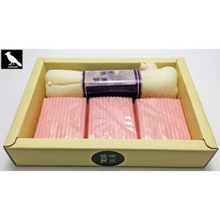 【 Gamayu 幹嘛游 】手工石鹼海飛絲手工皂 - 玫瑰潤膚手工皂 70克x3入+去角質沐浴皂袋