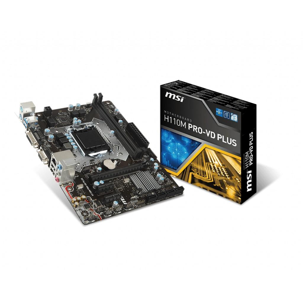【買一送一】 MSI 微星 H110M PRO VD PLUS 主機板 隨機送百元小禮