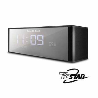 【諾特電子】T.C.STAR 連鈺 TCS1130 電鍍鏡面插卡帶鬧鐘FM多功能藍牙喇叭 黑 / 紅