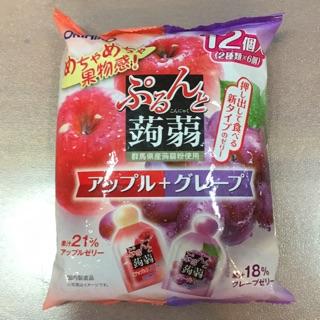 日本果凍/蘋果,葡萄口味/12個入