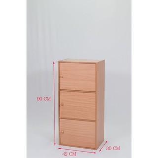 【收納家具】附門高級三門櫃~三層櫃~置物櫃~有門書櫃~有門收納櫃~附門組合櫃~木製書櫃~木門櫃~書架~整理櫃