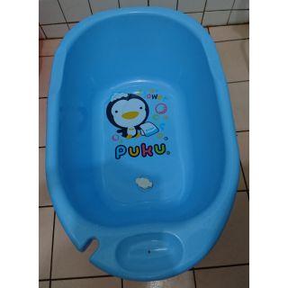 【二手】PUKU 藍色企鵝 防滑澡盆 (限自取,中和區)
