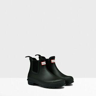 HUNTER雨靴踝靴女款霧面黑
