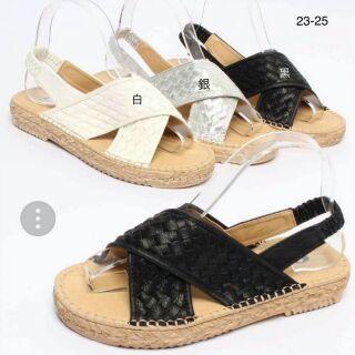 正韓編織交叉涼鞋