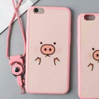 oppoF1S粉粉小豬矽膠手機殼手機軟殼
