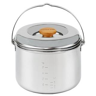 日本預購✈️日本鹿牌 Captain Stag M-8610三層不鏽鋼鍋 合金鍋 湯鍋 煮米鍋 燉鍋 露營 摺疊 收納