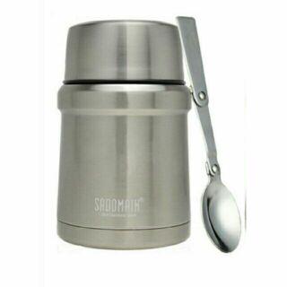 仙德曼 8色 八色 悶燒罐 食物罐 附湯匙 480ml SADOMAIN LJ8480