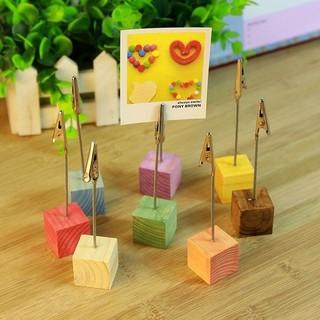 ☜shopgo☞創意彩色小方塊木夾 原木 彩色 便條夾 明信片 復古 造型 便簽 相片 擺件 【M21】%231384