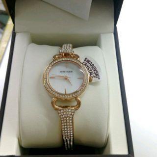 Anne Klein Women's Swarovski Crystal Bangle Watch