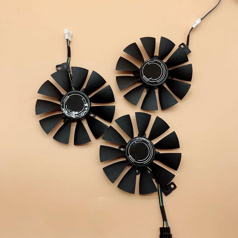 華碩ROG STRIX GTX1060 1070 1080TI散熱風扇 單介面四針/五針/六針 顯卡冷卻風扇
