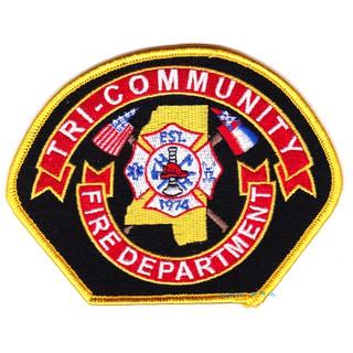 *光輝旅*美國Tri-Community志願者消防單位使用臂章*國外臂章*美國消防臂章*刺繡臂章*有考證