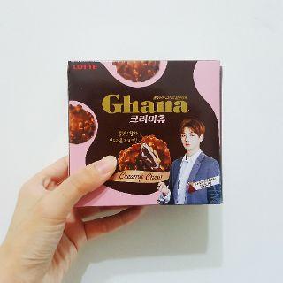 【5/4到貨】WANNA ONE 代言 韓國 LOTTE樂天 GHANA 榛果麻糬巧克力80g PRODUCE 101