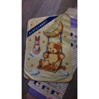 日本 西川小熊毛毯 八成新