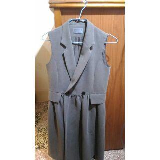 台灣製 Marjorie 瑪喬麗 西裝裙襬背心