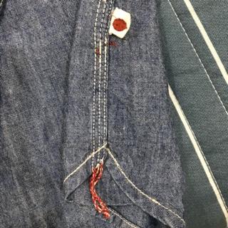 ASOS 日本  slim fit 牛仔 木村 牛津 藍 襯衫