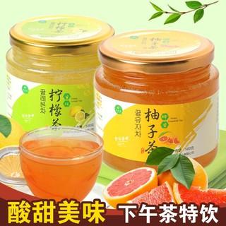 【組合2罐裝】蜂蜜柚子茶500g+檸檬茶500g 韓國風味果茶熱沖飲品