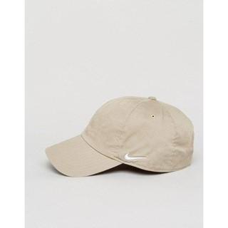NIKE 側邊 LOGO CAP 老帽 土黃