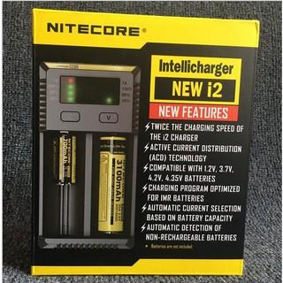 [NITECORE NEW I2]智能充電器/全兼容/鋰電池/電子菸/二代/18650動力電池/雙槽智能液晶鎳氫/蒸氣