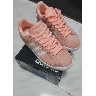 愛迪達 粉橘色 網球鞋