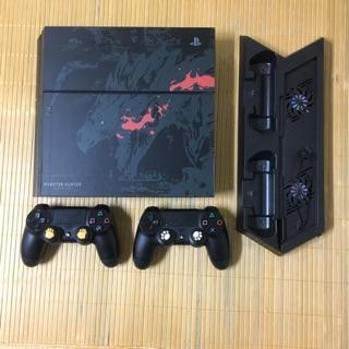 PS4 厚機 500G 魔物獵人火龍造型外觀 雙手把