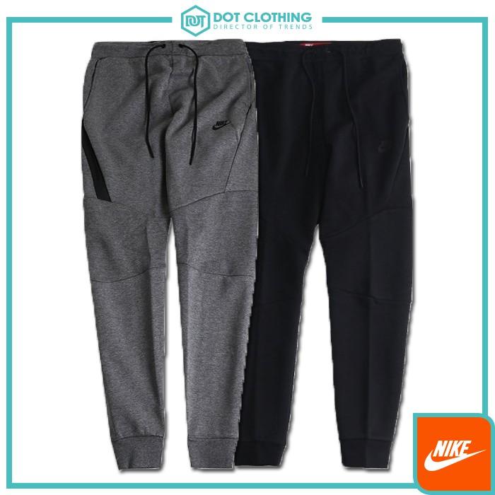 DOT聚點 Nike Tech Fleece 全黑 灰黑 防水拉鍊 科技棉 長拉鍊 縮口棉褲 男 805163-010