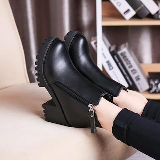 ZARA 款 休閒百搭性感秋 學生復古高跟女鞋馬丁靴英倫風女靴厚底粗跟