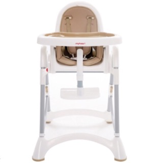 myheart 折疊式兒童安全餐椅-布朗咖