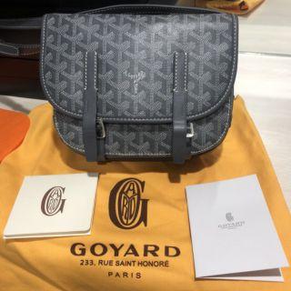 Goyard郵差包(灰色)