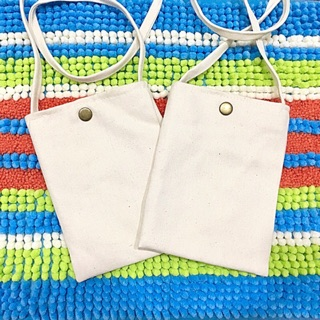 Bag ::: 小清新文藝帆布包☀️素色胚布包 側背斜背