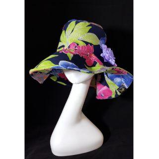 手作帽 花卉繽紛夏日情懷 歐洲寬邊帽 頭圍56
