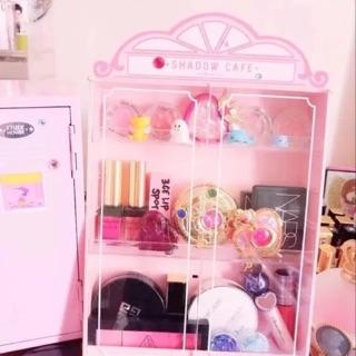 Etude house同款 眼影收納小櫃子 少女小屋收納 化妝品收納櫃 化妝品收納