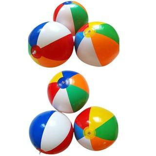 樂GO生活百貨行 沙灘玩具 充氣沙灘球 彩色PVC充氣六片球 六片彩球 6片球 寶寶手拍球 水上球 圓彩球 彩色充氣球