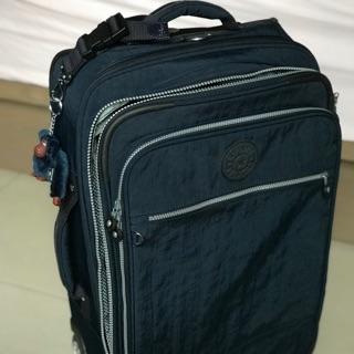 全新Kipling basic系列羽量級二輪22寸軟殼登機箱(深藍色)