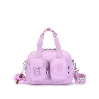 kipling女包休閒手提包包K14259時尚斜挎單肩女包 (現貨夢幻粉紫色一件)