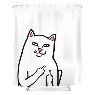 Go Away中指賤貓浴簾門簾浴室防水防黴窗簾