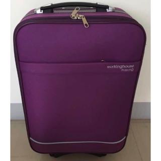 20吋 working house 布面 20吋行李箱 旅行箱 登機箱 紫色