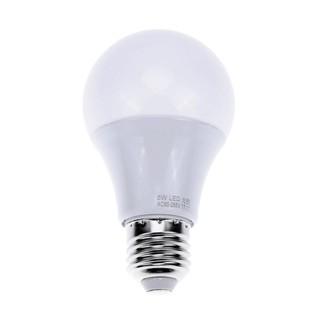 【大力推薦】純光控感應燈 燈具  led純光控感應燈泡光感應球泡燈庭院燈路燈A60包鋁光控天黑自動亮(5w)