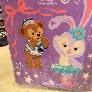 香港迪士尼❤️達菲&史黛拉❤️法蘭絨被