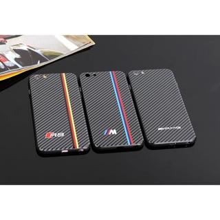 車標潮寶*M 賓*AMG 奧*Sline RS浮雕碳纖維圖紋蘋果iphone7/6 plus手機殼