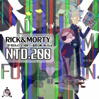 [自家通販] Rick and Morty Cop Rick&Evil Morty 同人10x15cm壓克力立牌
