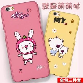 超多款式 可愛貓咪小熊 卡通動物 oppo手機殼 全包前後保護殼+保護貼 oppo r9 r9s plus