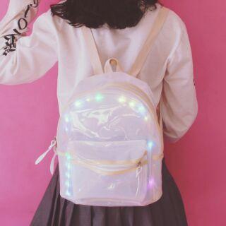 透明發光款後背包