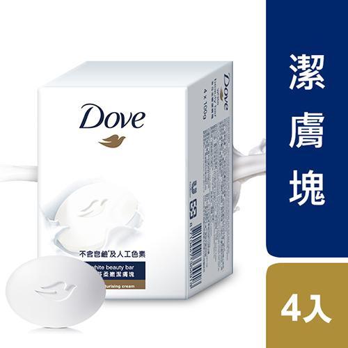 多芬滋養柔嫩潔膚塊100g X4【愛買】