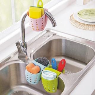 416 洛哈思廚衛馬鞍瀝水雙格收納掛袋水槽多用雜物瀝水袋