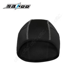 SAHOO-全新自行車彈性抓絨帽:頭盔衛生內襯帽 (吸濕、排汗、透氣、防寒、保暖) 單車半圓帽頭巾 腳踏車安全帽護耳頭套