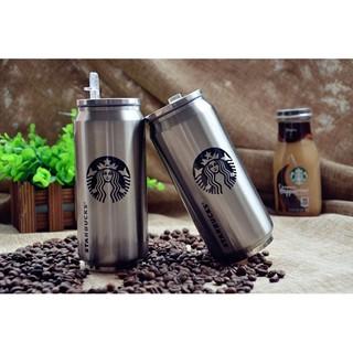 現貨 星巴克 不鏽鋼易拉罐 保溫杯 Starbucks 咖啡杯 雙層 304不鏽鋼 吸管杯 350ml